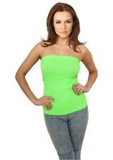 URBAN CLASSICS - Ladies Neon Strapless Top - Damen - NEU
