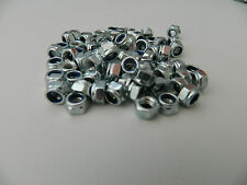 M5/5mm Bright Zinc Plated (BZP) Hex Nyloc/Nylon Insert lock Nuts Standard Pitch