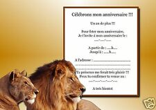 5 ou 12 cartes invitation anniversaire REF 1033