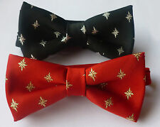 Christmas Star Ready Tied Bow Ties UK Manufactured