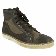 MENS FIRETRAP LEATHER LACE UP CUP SOLE BROGUE ANKLE BOOT BROWN FAVOUR FT