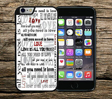 "The Beatles ""All You Need Is Love"" Lyrics Iphone 6+ 6 5c SE 5/5s 4/4s Case/Cover"