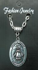"20"" or 24 Inch Chain Necklace & Infant of Prague Oval Pendant Sacred Jesus Charm"