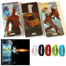 Silicone Back Cover Case fr Samsung Galaxy Note i9220 N7000 +Tempered Glass FREE