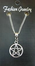"""18"""" or 24 Inch Necklace Pentacle Pentagram Pendant Wicca Star Wiccan Pagan Charm"""