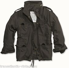 M65 FIELD JACKET WITH QUILTED LINER VINTAGE MILITARY COAT ARMY MENS COMBAT BLACK