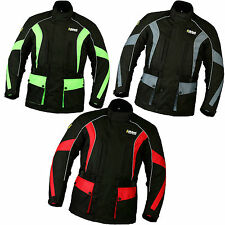 New Mens CE Armoured Waterproof Cordura Motorbike Motorcycle Jackets Collection