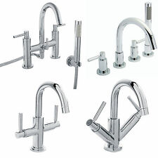 HUDSON REED TEC LEVER CHROME TAPS BASIN MIXER BATH SHOWER FILLER BATHROOM