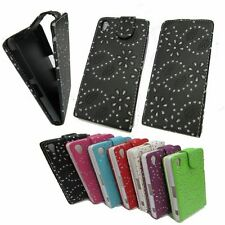 Glitter Vertical Flip Leather Case Cover Pouch For Sony Xperia Z2 D6503 New UK
