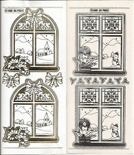 Embossed MD Peel Offs Christmas Stained Glass