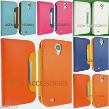 For Samsung Galaxy S4 I9500 I9505 Leather Case Cover Wallet Flip Book Pouch Back