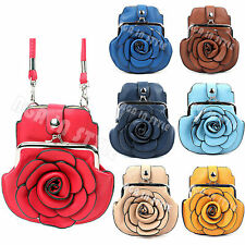 Clasp Flower Phone  Mobile Cover Pouch Coin Glasses Bag Wallet Cross Body Purse