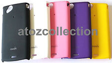 Hard Rubberized Back Cover Case for Sony Xperia J ST26i