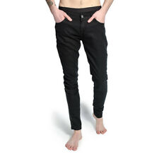 Criminal Damage Herren Jeans Stretch Skinny Fit Schwarz Denim Röhrenjeans Black