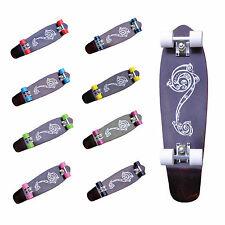"Mini Cruiser Longboard Complete Retro Skateboard 27"" Maple Ridge Board"