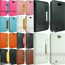FOR SAMSUNG GALAXY NOTE II N7100 LUXURY LEATHER CASE COVER POUCH FLIP BACK N 2