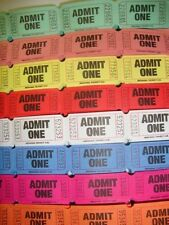 2 Huge Rolls Tickets Admit One Party Carnival Fairs