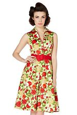 VOODOO VIXEN KEIRA FRUIT PRINT DRESS ROCKABILLY VINTAGE 8 10 12 14 VINTAGE