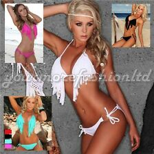 Swimsuit Bikini Set Sexy Top Ladies Swimwear Beachwear Fashion Tassel Bra (SW02)