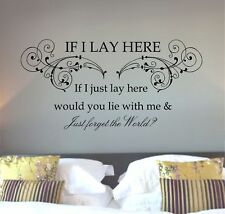 Snow Patrol Chasing Cars lyrics, song quote, Wall art sticker, Vinyl Decal,