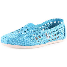 Toms Satin Classics Womens Satin Teal Espadrilles New Shoes All Sizes