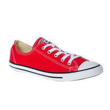 Converse All Star Baskets Basses Ox Dainty Fine Toile Femme Chaussure Rouge Mode