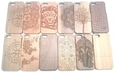 Luxury Natural Carved Wood Wooden Case Cover for iPhone 5 5S 5C iPhone 6s Plus