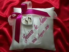 PERSONALISED wedding ring cushion / pillow 86 colours!!!  Any LANGUAGE