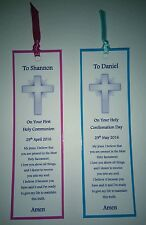 First Holy Communion Bookmark Keepsake Gift Confirmation Bible Card Crucifix