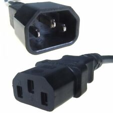 Black IEC Extension Female C13 to Male C14 Cable Ideal For UPS Power Units