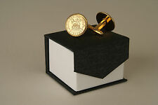 24ct Gold Plated Lucky Sixpence Cufflink Sets 1921-1946 in a deluxe box
