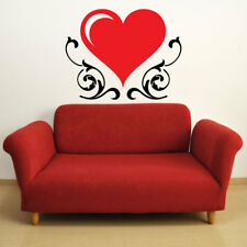 HEART SWIRLS large vinyl wall decal bedroom living room wall stickers