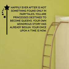 HAPPILY EVER AFTER wall sticker quote bedroom living room wall decals