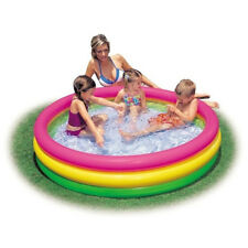 INTEX 3 Ring Planschbecken Sunset Glow Pool Schwimmbecken Kinderbecken Badespaß