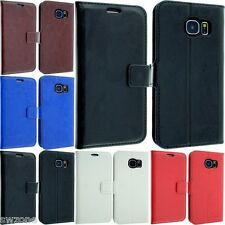 FOR SAMSUNG GALAXY S6 GM-920 SM-G920F LEATHER CASE COVER FLIP POUCH WALLET BACK