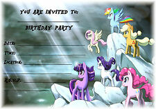 Pony Storm My Little Pony Childrens Kids Invites 12x  A5 Girl Party Invitations