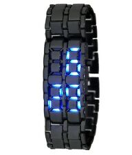 Black Samurai Steel LED Digital Watch cum Bracelet For Mens