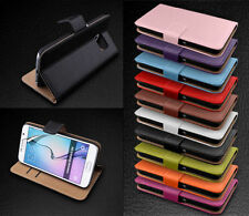 NEW LEATHER FLIP WALLET CASE COVER FOR SAMSUNG GALAXY S6 FREE SCREEN PROTECTOR