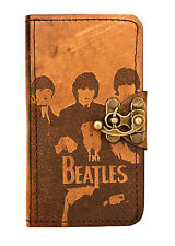 The Beatles Decoration Samsung Galaxy S3 Case Real Genuine Leather Wallet Cover