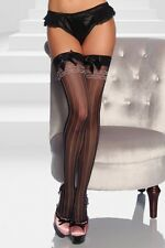 Stockings with satin bow stripes Sexy Stockings Nylon Lingerie suspenders