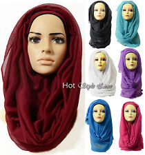 New beautiful colour Large Oversize plain maxi Viscose Scarf Hijab Wrap Sarong