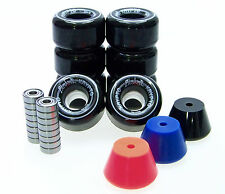 Pattini Rotoli / Stopper / ABEC Cuscinetti Set Disco Monopattino PANAME BLACK