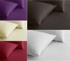 3 Piece Satin Stripe Duvet Quilt Cover with Pillow Case Bed Linen Bedding Set
