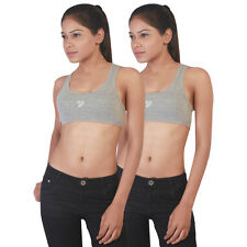 Twin Birds Grey Sports Bra  Pack of 2 (1532 - Grey Mix)