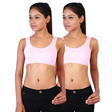 Twin Birds Pink Sports Bra Pack of 2 (1532 - Mid Pink)