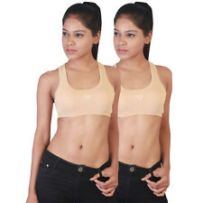Twin Birds Beige Sports Bra Pack of 2 (1532 - Natural Skin)