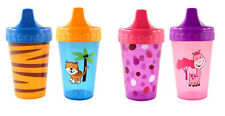 Nurtria Character Non Spill Training Cup 2 Pack BPA Free - Tiger & Giraffe Print