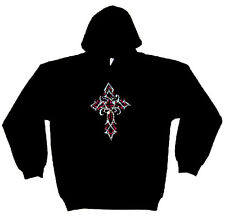 CROIX GOTHIQUE CRYSTAL ADULTES POIDS LOURD STRASS PULL CAPUCHE
