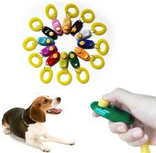 Pet Dog Cat Clicker, Dog Training Clicker, Pet Obedience Aid + Wrist Strap UK