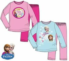 NEW GIRLS DISNEY FROZEN ANNA & ELSA LONG PYJAMA SET, 100% COTTON SIZES 3-8 yrs
